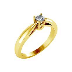 joya anillo compromiso solitario