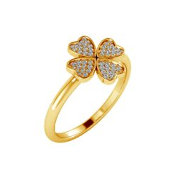 joya anillo trebol
